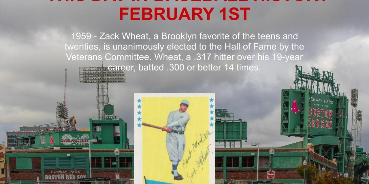 This Day In Baseball History February 1st